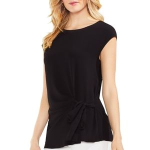 NWOT. VINCE CAMUTO WOMENS CREPE SIDE-TIE BLOUSE
